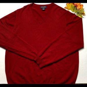 Brooks Brothers XL V-Neck Merino Wool Sweater